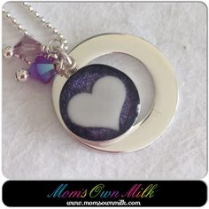 Mommy pendants are a great way to celebrate your children and as a reminder of how amazing you are.  Choose your design and add #BirthstoneCharms to celebrate those special people and events in your life.  There are 2 sterling silver disk pendants and 2 crescent moon pendants available at the moment.   www.momsownmilk.com/products #momsownmilk  #breastmilkjewellery #momsnewstuff  Find me on #ETSY, #Facebook, #Twitter, #Instagram, and #Pinterest: @momsownmilk