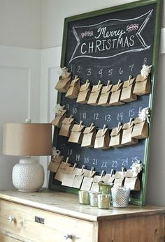 A few years ago, I bought one of those small houses with 25 tiny doors in it for Advent. I think I picked it up from Target. I put a slip of paper behind all 25 little doors that surprised the kids wi