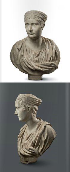 Bust of Empress Sabina, Roman, ca 130 A.D. marble.