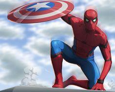 Spiderman Civil War/ SpeedPaint by fradarlin.deviantart.com on @DeviantArt