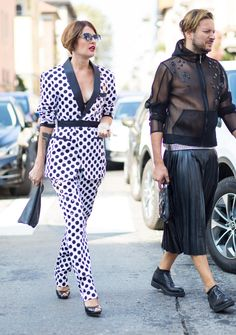 On the street at Milan Fashion Week. Photo: Chiara Marina Grioni/Fashionista