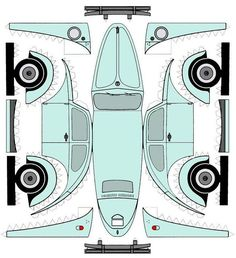 DIY VW BUG printable. Other car Printables at the link.
