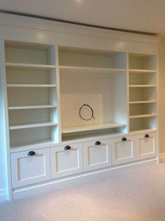 Playroom storage 43 wall units for tv, built in tv wall unit, built in Living Room Built Ins, New Living Room, Living Room Decor, Wall Cabinets Living Room, Living Room Wall Units, Wall Shelving Living Room, Living Room Without Fireplace, Bedroom Wall Units, Bedroom Built Ins