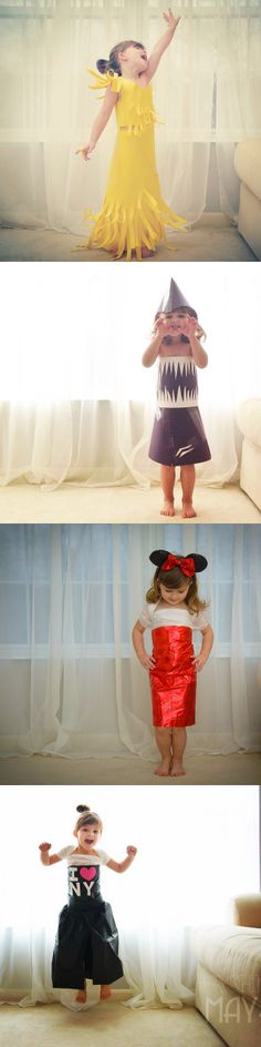 4-year-old Mayhem's dresses are taking DIY fashion to a whole new level.