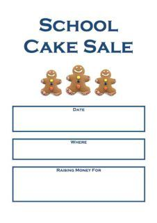 Cake Sale Poster | Bake Sale Posters | Pinterest | Sale poster and ...