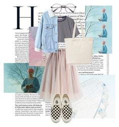 """""""skies and bubble gum pink"""" by olean on Polyvore featuring T By Alexander Wang, Chicwish, WithChic, BAGGU and Vans"""