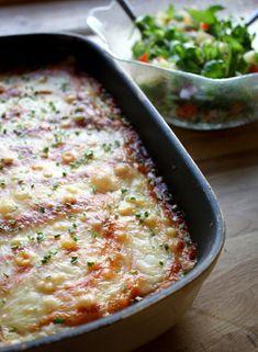 Smakfull søtpotetmosgrateng - LINDASTUHAUG Moussaka, Mashed Potatoes, Macaroni And Cheese, Ethnic Recipes, Food, Whipped Potatoes, Mac And Cheese, Smash Potatoes, Essen