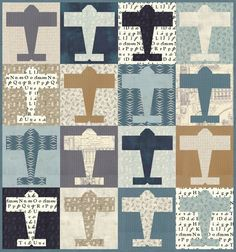 Image of #152 Aviator - Paper Pattern Quilting Projects, Quilting Designs, Quilting Ideas, Crazy Quilting, Sewing Projects, Quilting Tutorials, Fat Quarters, Boys Quilt Patterns, Quilting Patterns