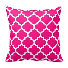 Moroccan Quatrefoil Hot Pink Pillow Best Design http://www.amazon.com/dp/B00ZPE01DM/ref=cm_sw_r_pi_dp_5fr6vb1Q75A4K