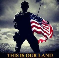"""""""We the people of the United States of America"""". this IS our land. I Love America, God Bless America, American Pride, American Flag, Rambo, My Champion, Military Life, Military Quotes, Army Life"""