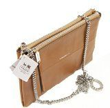 COACH Double Zip Crossbody in Retro Glove-Tanned Leather in Silver / Camel 51881