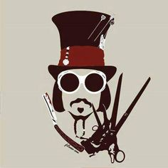 omg! Willy Wonka, Jack Sparrow, Edward Scissorhands, Sweeny Todd and the Mad Hatter all in one! love Johnny Depp!