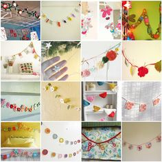 Friday Inspiration: Garlands! | 1. Fabric flower garland, 2.… | Flickr