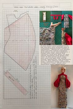 Sewing Barbie Clothes, Barbie Sewing Patterns, Doll Dress Patterns, Sewing Dolls, Barbie Mode, Barbie Basics, Made To Move Barbie, Crochet Doll Dress, Barbie Dress