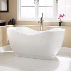 "63"" Mandin Acrylic Double-Slipper Tub - Bathroom - Cool tub for the master bath!"