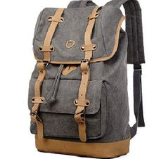 #Canvas Travel Laptop School #Backpack - Premium Quality