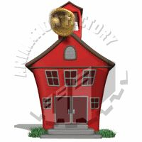Old Fashioned Schoolhouse Bell Ringing Animated Clipart