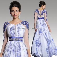 Wedding Gown With Sleeves - Blue Half Sleeves $283.89 (was $333.99) Click here to see more details http://shoppingononline.com/wedding-gowns-with-sleeves/wedding-gown-with-sleeves-blue-half-sleeves.html #WeddingGownWithSleeves #DressWithSleeves #HalfSleeves #BlueHalfSleeves #BlueDress