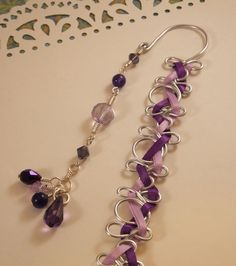 TangledInspired+Wire+Wrap+and+Beaded+Bookmark++by+AthenasPromise,+$25.85