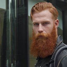The Ginger King @gwilymcpugh   #thebeardedstag   photo: @jonokojonoko