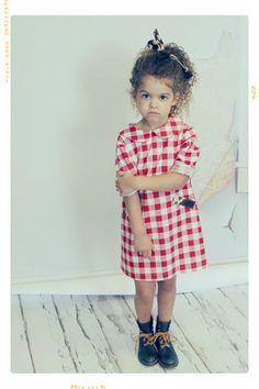 Ruby at the County Fair Peter Pan Collar Girls Shift Dress Fleur + Dot