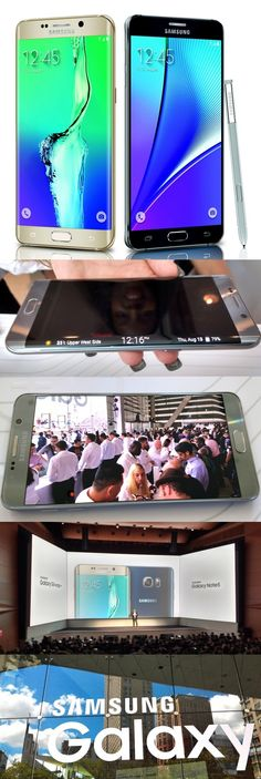 The @SamsungMobileUS Galaxy S6 edge+ and flagship Samsung Galaxy Note 5 with S Pen stylus debuted in New York's Lincoln Center Thursday. Both have 5.7-inch Quad-HD displays and 4K video recording and both have Samsung Pay, which lets users pay at retail locations with their phones. The Galaxy S6 edge+ has a curved display which can show notifications on the edge. The Galaxy Note 5 has a new screen: You can write on it with the S Pen even when the display is off. #SamsungUnpacked #TheNextBigT...