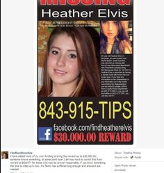 Chelsea Hoffman's Blog - Heather Elvis case analysis II: Things aren't what they seem - January 25, 2014 20:10