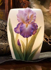 Amazon.com: Purple Bearded Iris Night Lamp - Ibis & Orchid Design Collection: Lamps & Light Fixtures