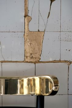 the idea to gold leaf cracks and creviches in an old building is pure genius