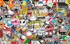 Stickers Style Desktop Background