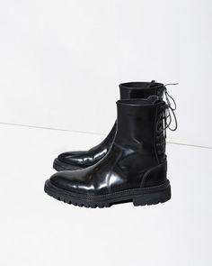 YANG LI | Rear Laced Boot | La Garçonne