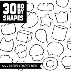30 Character Body Shapes to Doodle. Watch this video on www.youtube.com/piccandle