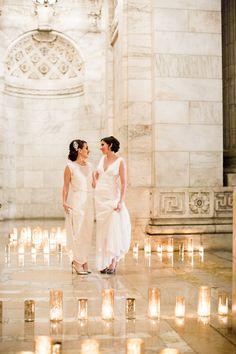 Vintage Glam Sheath Wedding Dresses | Roey Yohai Photography | Theknot.com