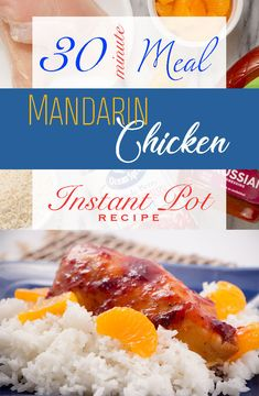Super Simple 30 Minute Meal Mandarin Chicken with Rice has only 5 ingredients but is so delicious and my kids ask for it again and again. Instant Pot Recipe and can also be made in Crock Pot. Instant Pot Pressure Cooker, Pressure Cooker Recipes, Pressure Cooking, Instant Recipes, Instant Pot Dinner Recipes, Crockpot Recipes, Cooking Recipes, Drink Recipes, Delicious Recipes