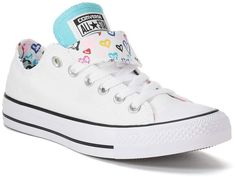 Converse Women's Converse Chuck Taylor All Star Double Tongue Heart Print Sneakers