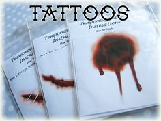 Halloween Party Favors Fake Wound Temporary Tattoos #Halloween #party #favors