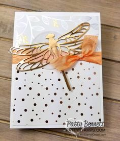 Springtime foils paper sale a bration flower card 3 pattysatmps stampin up copper dragonfly Foil Paper, Paper Cards, Flower Cards, Butterfly Cards, Monarch Butterfly, Dragonfly Wall Art, Stamping Up Cards, Stamp Making, Mothers Day Cards