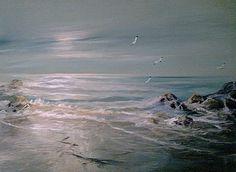 sea and birds by Fanie Smit