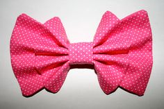 """""""Be My Valentine"""" bow in pink from Sincerely, Maeko!    http://sincerelymaeko.storenvy.com"""