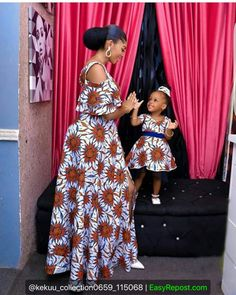 mummy and baby ankara matching styles African Dresses For Kids, African Fashion Ankara, Latest African Fashion Dresses, African Dresses For Women, African Print Dresses, African Print Fashion, African Attire, Ankara Gown Styles, Ankara Gowns