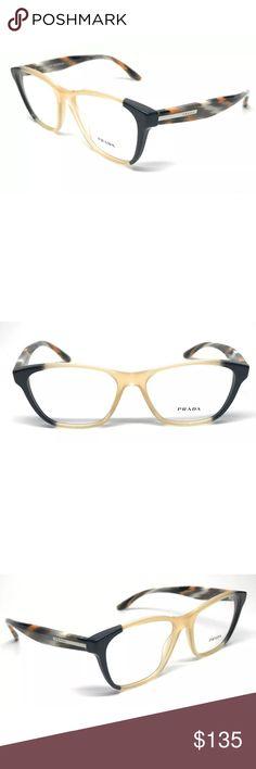 5d2bd31e143 Prada Eyeglasses VPR Yellow and grey New