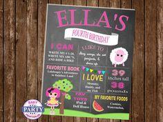 SALE Lalaloopsy Sugar Crumb birthday by EasyPartyPrintables