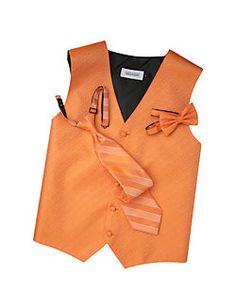 Orange Vest & Tie for guys