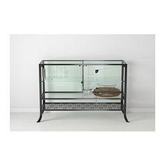 So cool. (KLINGSBO Glass-door cabinet - IKEA)