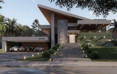 Ideas home desng exterior architecture Modern Villa Design, Modern Exterior House Designs, Dream House Exterior, Modern Architecture House, Exterior Design, Architecture Design, Contemporary Design, House Front Design, Luxury Homes Dream Houses