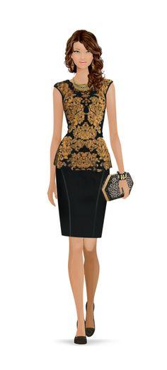Fashion Game Fashion Games, Peplum Dress, Dresses, Fashion Styles, Trendy Outfits, Sporty, Vestidos, Dress, Gown