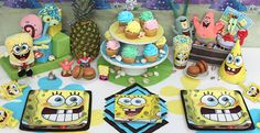spongebob birthday party accessories