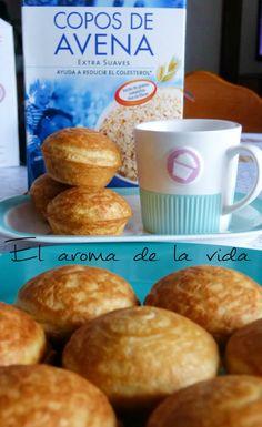 El Aroma de la Vida: Receta de mini magdalenas de yogurt y avena sin grasa