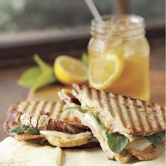Fried Green Tomato and Pancetta Panini - use turkey bacon instead of pancetta