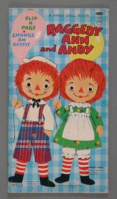 Raggedy Ann and Andy: A First Doll Book  paper doll  1969  Manufacturer:  Whitman Publishing Co.